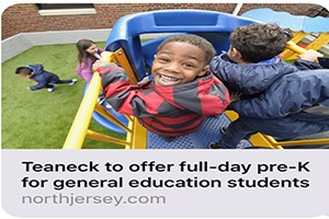 Teaneck Receives $1.2 Million Preschool Education Grant