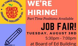 Community Education Center Job Fair, August 3rd