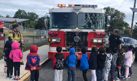 Fire Truck with Students