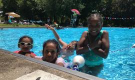 Girls in a Pool