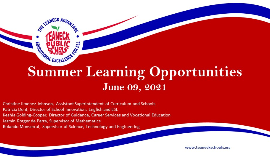 Summer Learning Opportunities for TPS Students