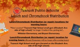 District Free Breakfast, Lunch & ChromeDepot - Oct. Schedule