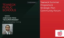 Summer Programs and Strategic Plan Community Forum June 26