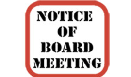Public Notice Time Change and Virtual Meeting Information 05/12/21 Regular Public Meeting
