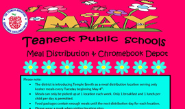 District Free Breakfast, Lunch & ChromeDepot - May Schedule