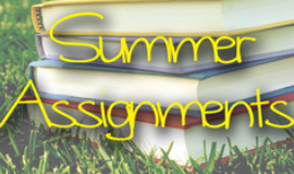 Summer Assignments for Elementary & Middle Schools