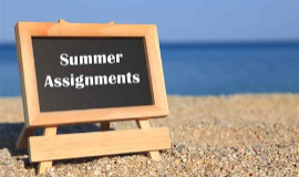 Summer Assignments for High School