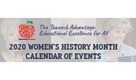 Teaneck Women's History Event Calendar 2020