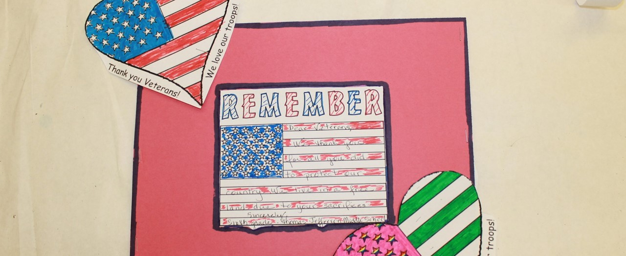 Student letters to veterans