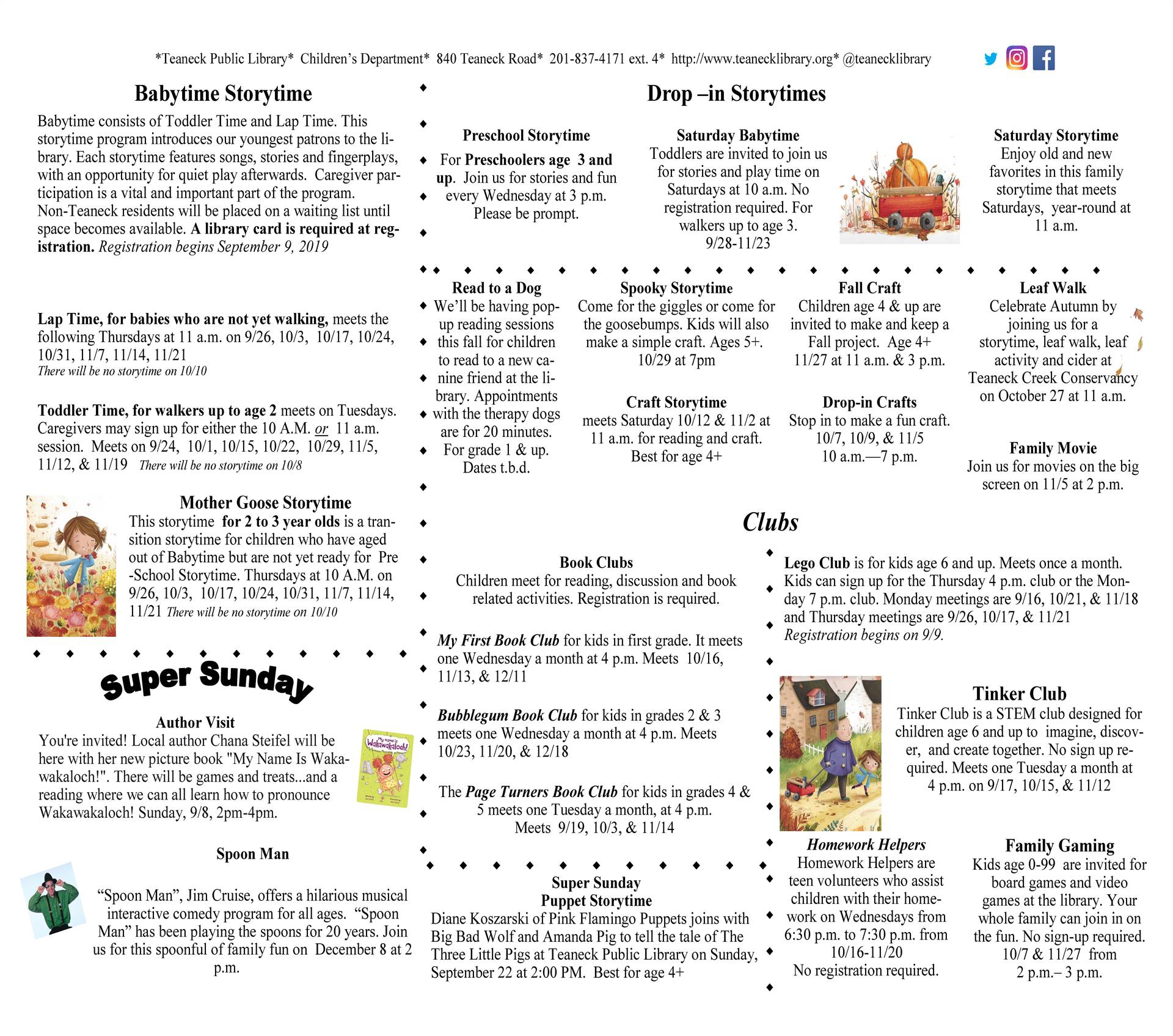 Teaneck Public Library Fall 2019 Page 1