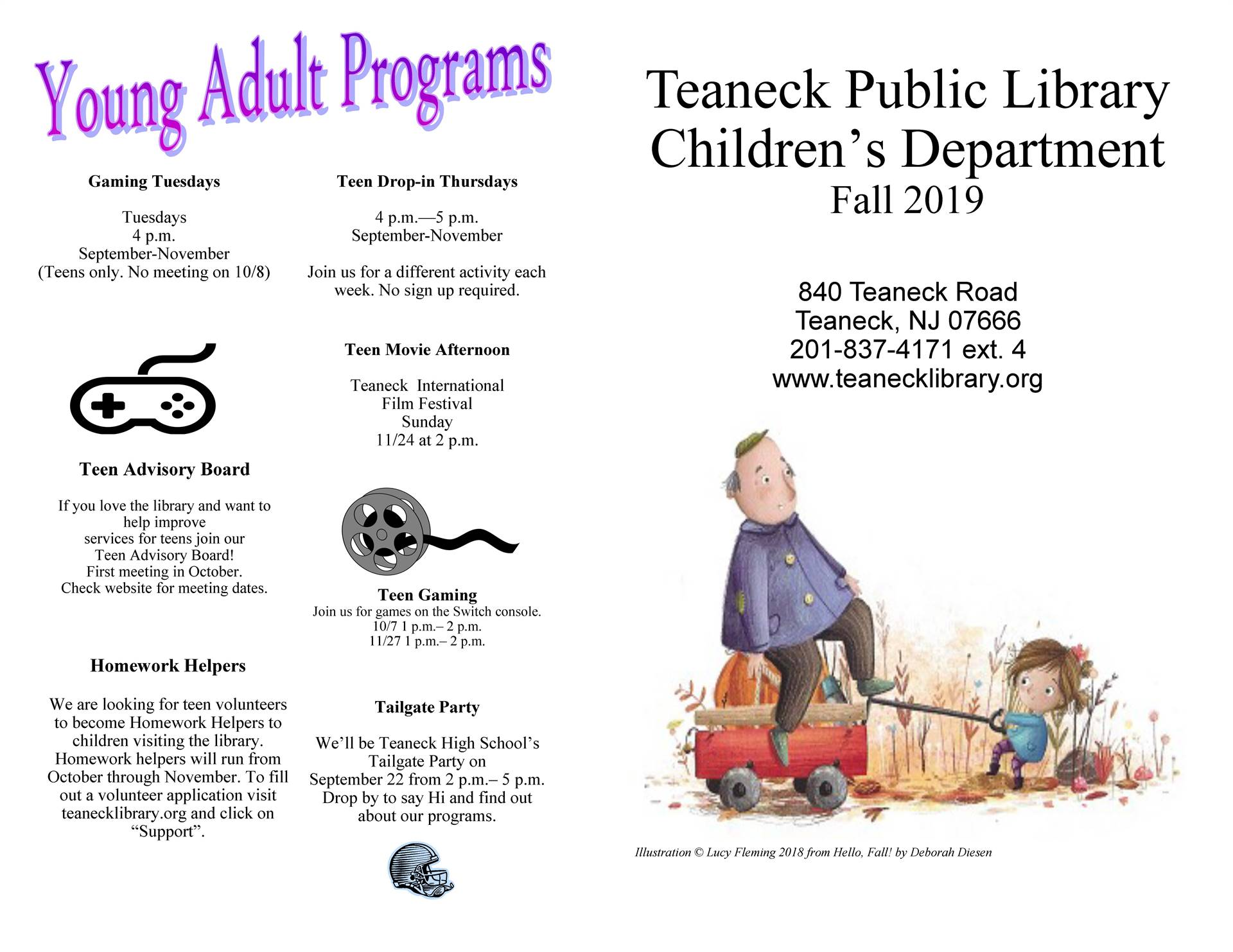 Teaneck Public Library Fall 2019 Pg 2