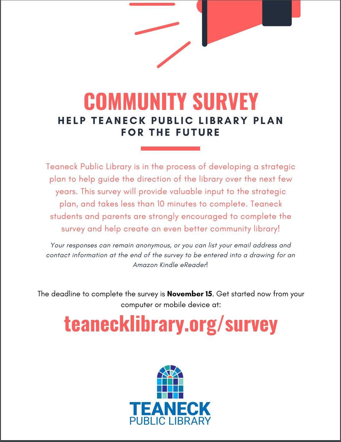 Teaneck Public Library Community Survey