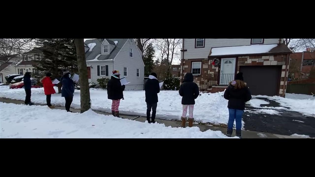 Students Caroling