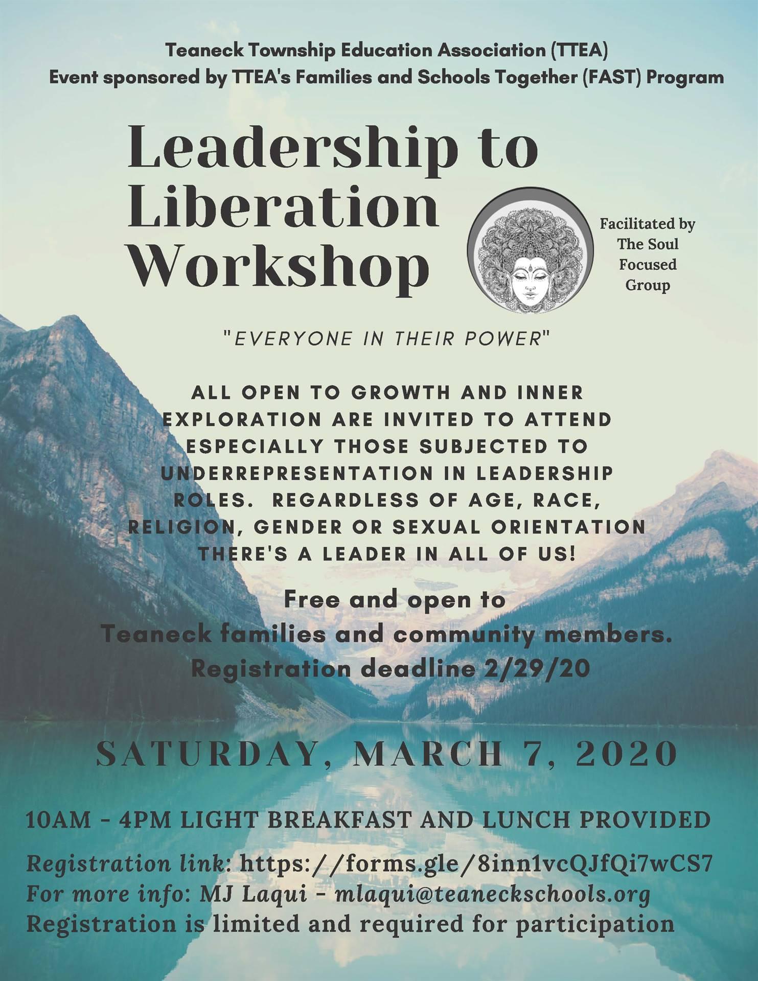Leadership to Liberation Workshop