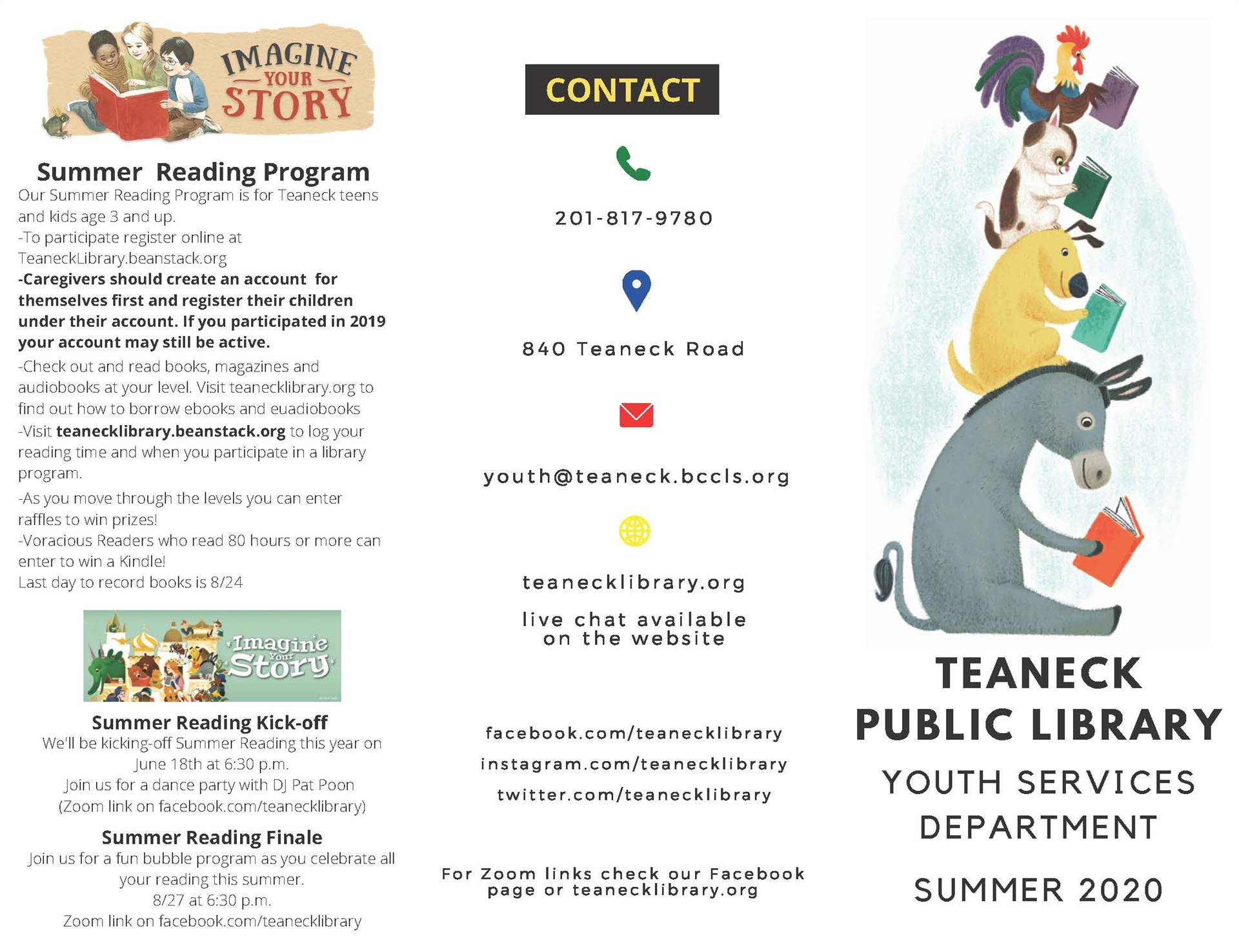 Teaneck Public Library Summer Reading Program