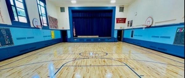 Lowell School New Gym Floor